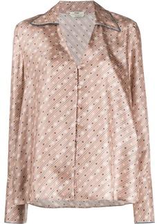 Fendi striped Karligraphy V-neck blouse