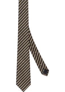 Fendi striped pattern necktie