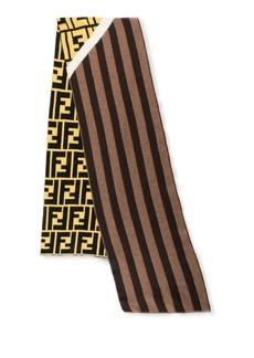 Fendi Striped Wool Fleece Scarf