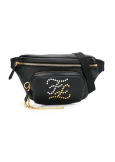 Fendi Karligraphy studded logo belt bag