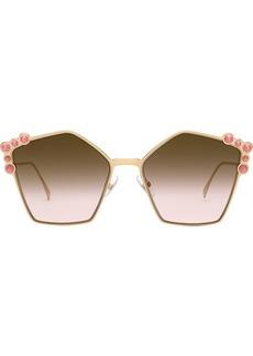 Fendi studded pentagonal sunglasses