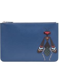 Fendi Super Bugs zipped wallet