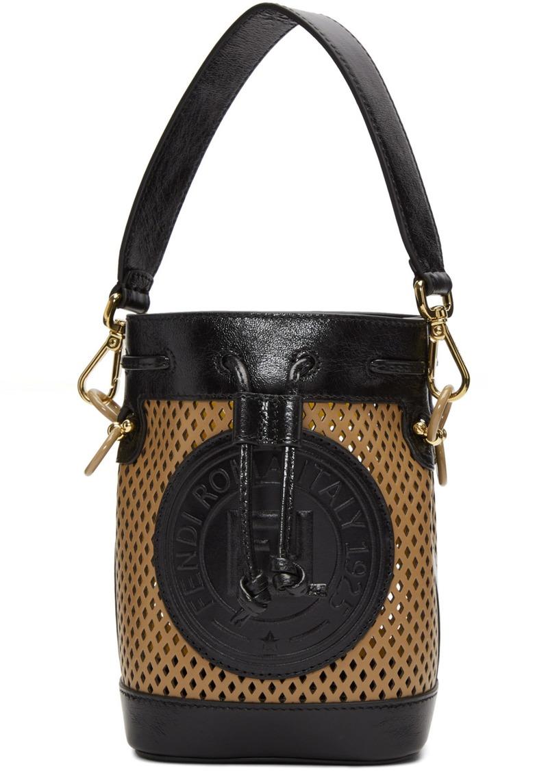 Tan Mini Mon Trésor Bucket Bag