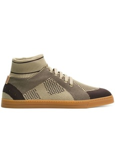 Fendi technical knit slip-on sneakers