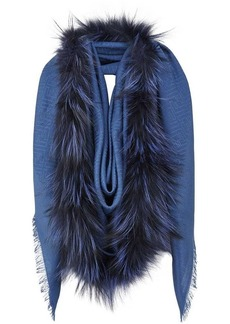 Fendi Touch Of Fur shawl