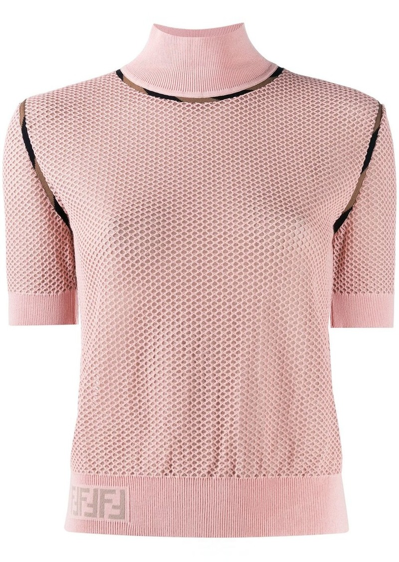 Fendi turtle neck slim-fit jumper