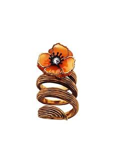 Fendi twist flower ring