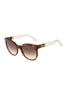 Fendi Two-Tone Round Sunglasses