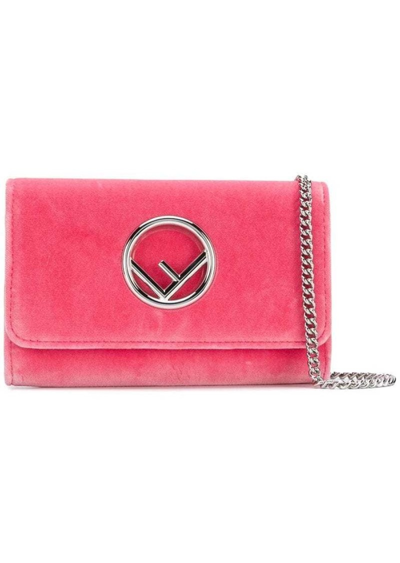 484d2f854f candy pink velvet wallet on chain mini bag
