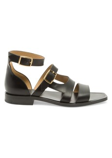 Fendi Vitello Spazzolato Leather Sandals