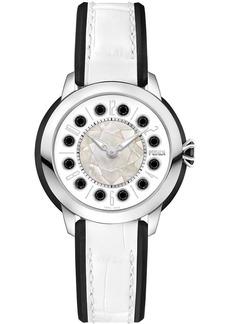 Fendi watch with trim and topaz detail