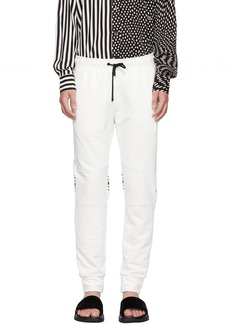 White Cuff Jogger 'Forever Fendi' Lounge Pants