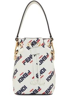 White 'Fendi Mania' Mini 'Mon Trésor' Bucket Bag