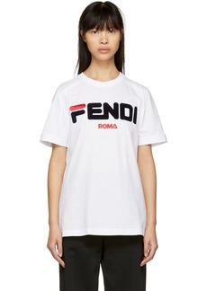 White 'Fendi Mania' T-Shirt
