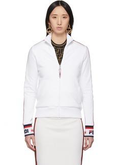 White 'Fendi Mania' Track Jacket