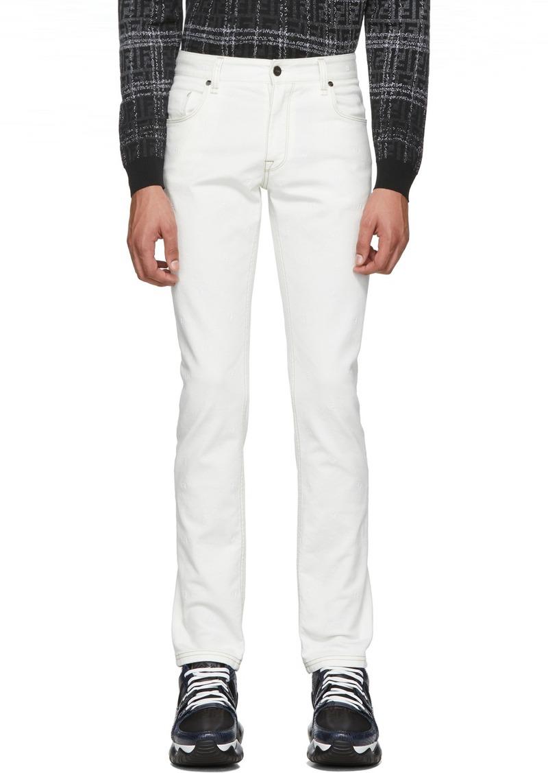 White 'Forever Fendi' Denim Jeans
