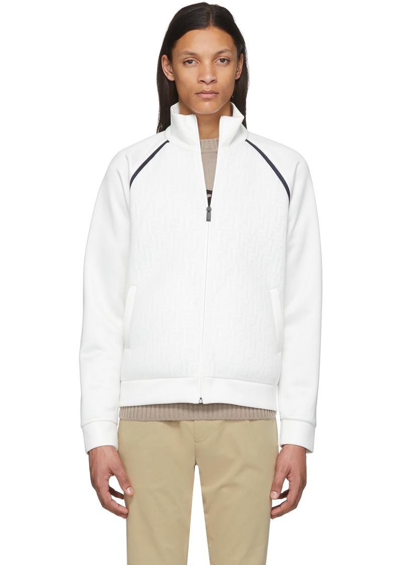 White Mesh 'Forever Fendi' Jacket