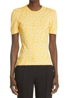 Women's Fendi X Sarah Coleman Ff Fisheye Jacquard T-Shirt