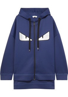 Fendi Wonders Oversized Printed Neoprene Hoodie