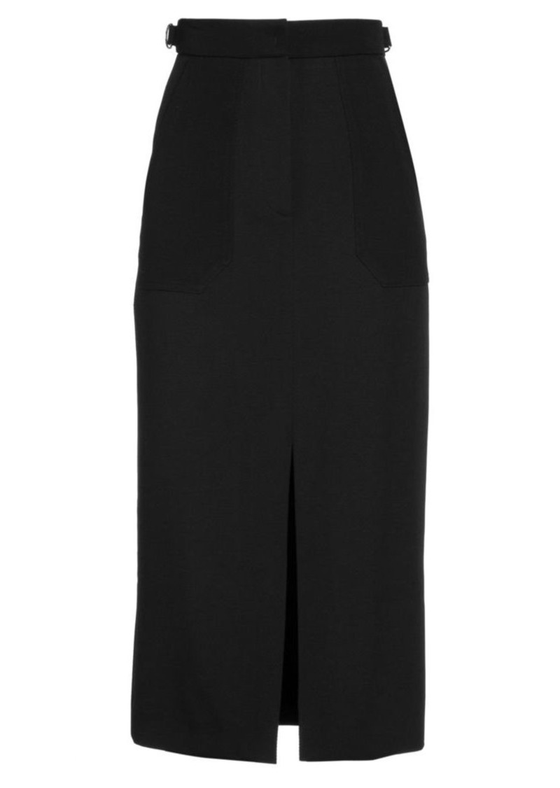 Fendi Wool Gabardine Pencil Skirt