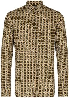 Fendi woven-effect monogram print shirt