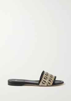 Fendi Woven Raffia Sandals