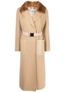 Fendi wrap style belted coat