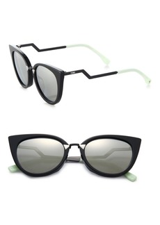 Fendi Zig-Zag Arm 52MM Cat Eye Sunglasses