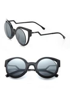 Fendi Zigzag 56MM Round Sparkle Sunglasses