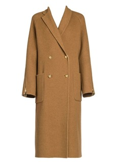Fendi Zip Detail Double-Breasted Coat
