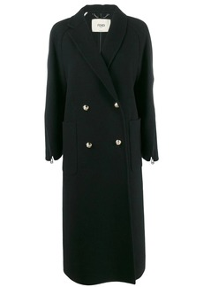 Fendi zip details long coat