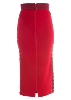 Fendi Zip Front Stretch Cady Pencil Skirt