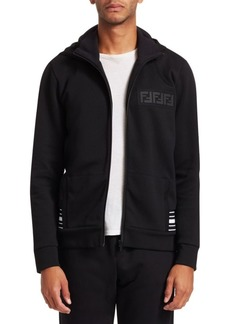 Fendi Zip Hooded Sweatshirt