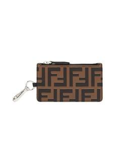 Fendi zipped FF motif wallet