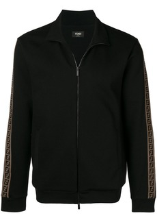 Fendi zipped logo stripe track jacket