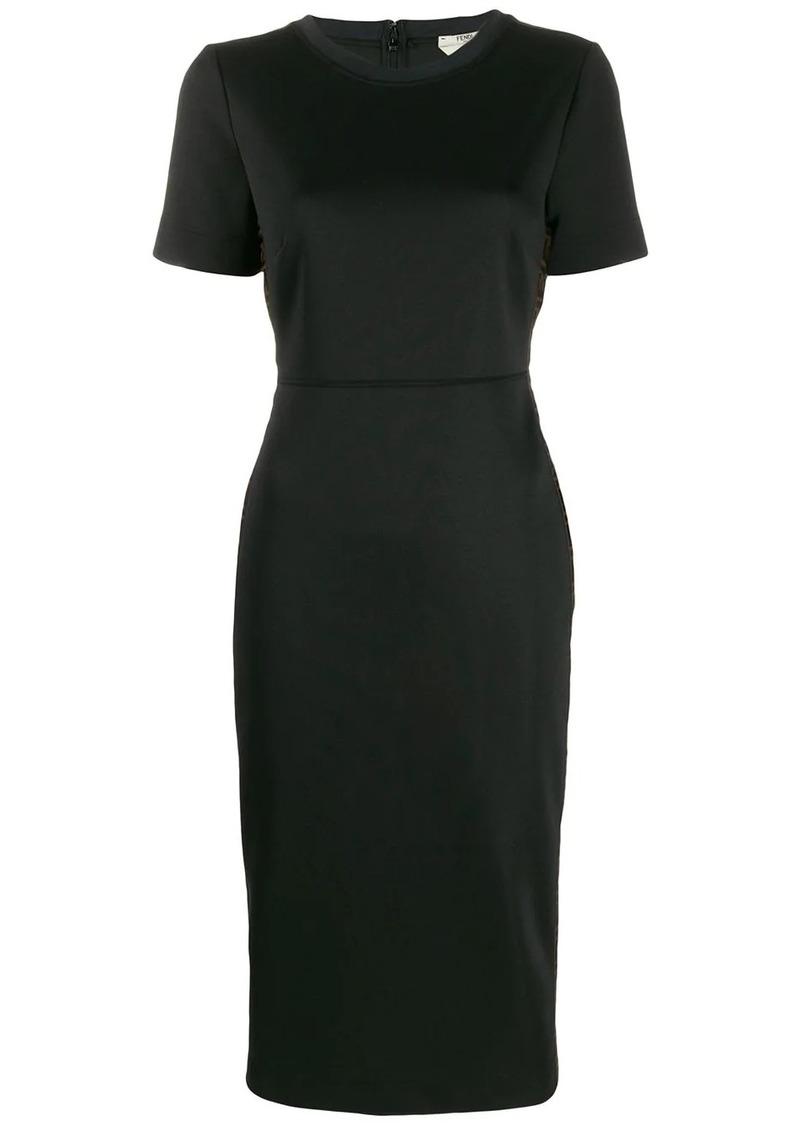 Fendi Zucca trim dress