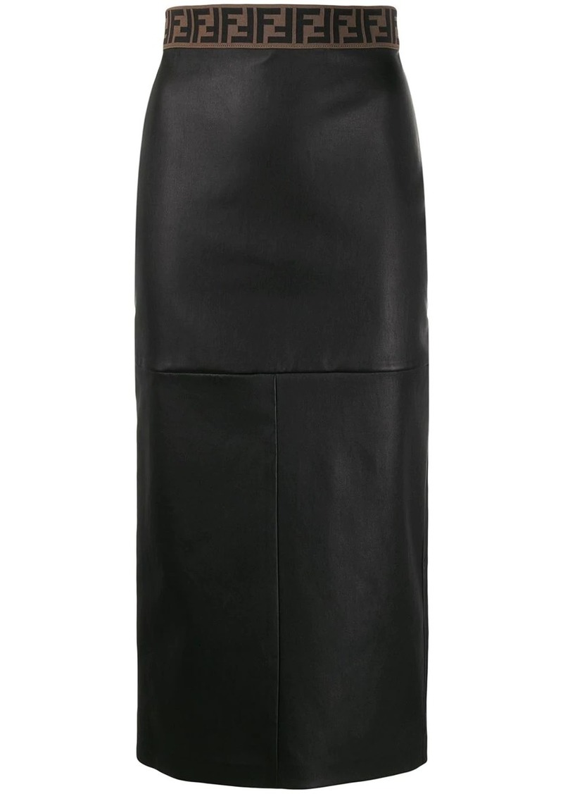 Fendi Zucca trim pencil skirt