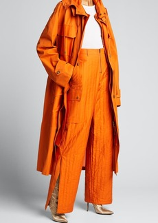 Fenty Baggy Quilted Cotton Pants  Orange