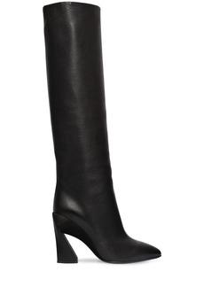 Ferragamo 105mm Antea X5 Leather & Suede Boots