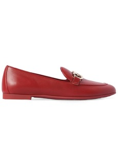 Ferragamo 10mm Trifoglio Leather Loafers