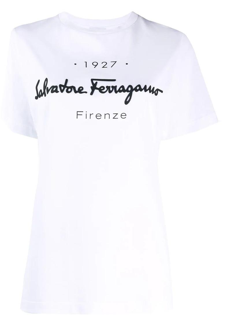 Ferragamo 1927 logo print T-shirt