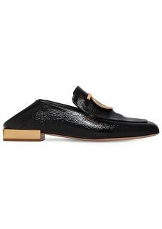 Ferragamo 20mm Lana Crackled Leather Loafers