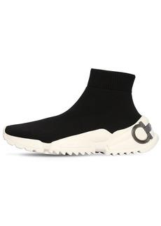 Ferragamo 20mm Raquel Knit Sock Sneakers