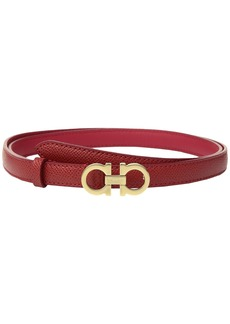 Ferragamo Thin Leather Gancini Belt