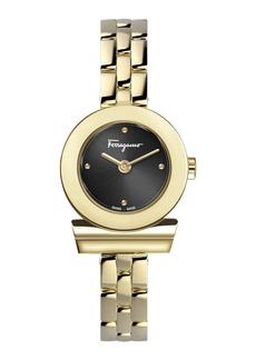 Ferragamo 27mm Gancio Watch w/ Bracelet Strap  Gold/Black