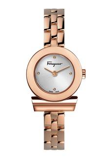 Ferragamo 27mm Gancio Watch w/ Bracelet Strap  Rose Gold