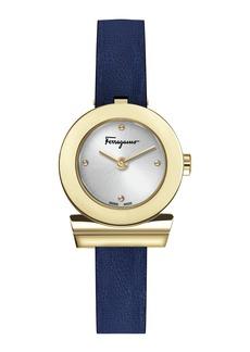 Ferragamo 27mm Gancio Watch w/ Leather Strap  Gold