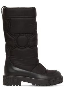 Ferragamo 30mm Ashley Quilted Nylon Snow Boots