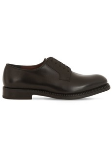 Ferragamo 30mm Brush Derby Lace-up Leather Loafers