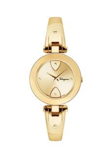 Ferragamo 32mm Gilio Watch w/ Bangle Bracelet  Gold